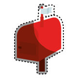 Mail box red isolated icon Royalty Free Stock Image