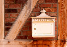 Mail box on the wall (Germany) Stock Photography