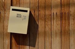 Mail box on wood background Royalty Free Stock Images