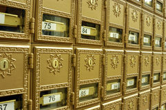 Mail boxes 1 stock photo