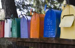 Mail boxes Stock Images
