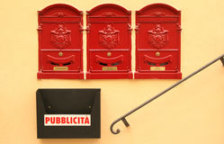 Mail boxes Stock Photography