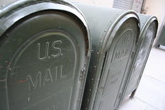 Mail boxes in the United States Royalty Free Stock Photo