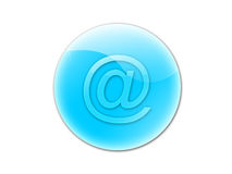 Mail button. Blue e-mail button- internet homepage,web page Royalty Free Stock Photo