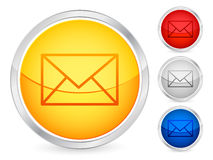 Mail button Royalty Free Stock Images