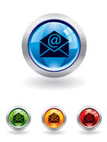 Mail button from series Royalty Free Stock Image