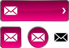 Mail  button set. Royalty Free Stock Images
