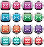 Mail buttons Royalty Free Stock Image