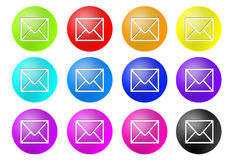 Mail buttons Stock Images