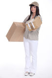 Mail carrier Stock Photos