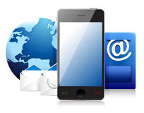 Mail at the cell phone, communication concept Stock Photo
