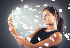 Mail from cellphone Royalty Free Stock Image