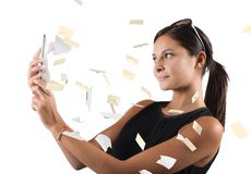 Mail from cellphone Stock Images