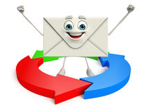 Mail Character with arrow Stock Image