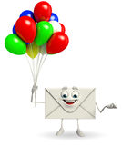 Mail Character with Balloon Royalty Free Stock Image
