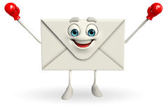Mail Character with Boxing Gloves Stock Images