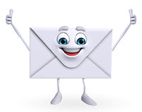 Mail Character is happy Stock Photos