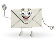 Mail Character with hello pose Royalty Free Stock Image