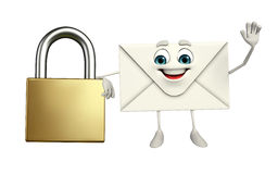 Mail Character with lock Stock Photo