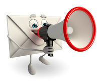 Mail Character with Loudspeaker Stock Photos