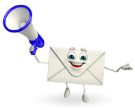 Mail Character with Loudspeaker Stock Photography