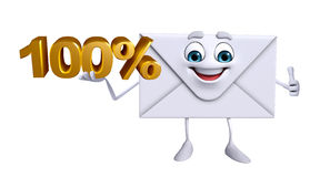 Mail Character with Percent sign Stock Image