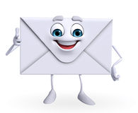 Mail Character is pointing Royalty Free Stock Image