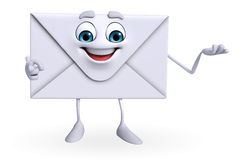 Mail Character is presenting Royalty Free Stock Images
