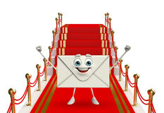 Mail Character with red carpet Royalty Free Stock Photos