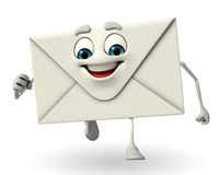 Mail Character is running Royalty Free Stock Images