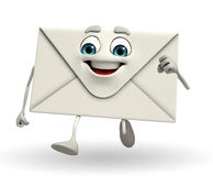 Mail Character is running Stock Image