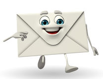 Mail Character is running Royalty Free Stock Photo
