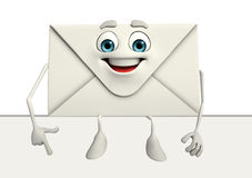 Mail Character with sign Stock Photography
