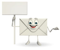 Mail Character with sign Stock Photo