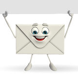 Mail Character with sign Royalty Free Stock Photos