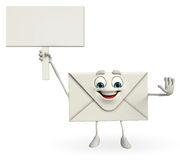 Mail Character with sign Stock Photos