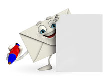 Mail Character with sign Royalty Free Stock Images