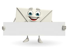 Mail Character with sign Stock Image