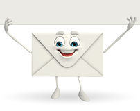 Mail Character with sign Royalty Free Stock Image