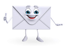 Mail Character is thumbs up Royalty Free Stock Photo