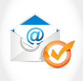 mail check mark cycle illustration design Stock Photo
