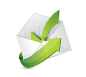 Mail check mark illustration design Royalty Free Stock Photography