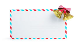 Mail christmas bell. On a white background Stock Images