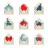 Mail christmas icons Stock Photo