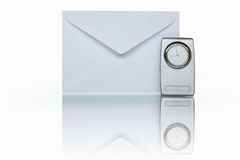 Mail and clock Royalty Free Stock Images