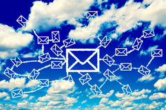 Mail clouds Royalty Free Stock Images