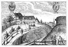 Mail and coach guesthouse in Augsburg, 17th century Royalty Free Stock Photography