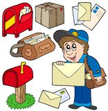 Mail collection. On white background -  illustration Royalty Free Stock Images