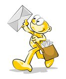 The mail is coming Royalty Free Stock Photo