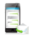 Mail communication concept illustration design Stock Images